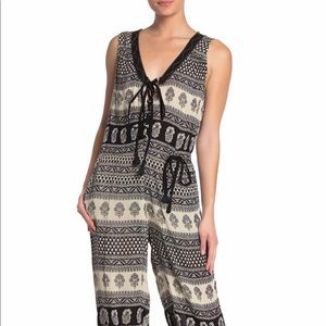NWT Lace Up Printed Jumpsuit by RAGA